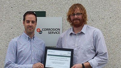 Corrosion Service employees with TCPL award