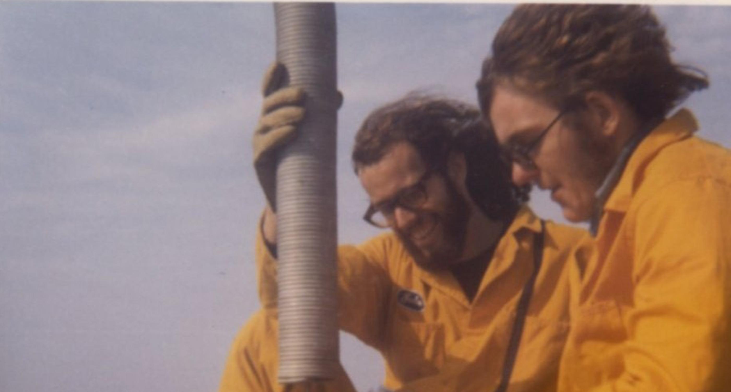 1970 installing anodes hippie installation crew